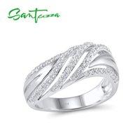 zirkonia verlobungsring sterling silber großhandel-Silber Ringe für Frauen Engagement Ehering Weiß Zirkonia Stein Reine 925 Sterling Silber Modeschmuck C18111701