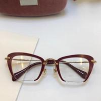 óculos de lente clara para mulheres venda por atacado-Óculos de armação mulheres homens designer de marca armações de óculos designer marca óculos de armação clara lente homens óculos de armação oculos 54QS e caso