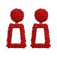 Wholesale square metal studs for sale - Solememo Women Statement Earrings Geometric Big Long Metal Earrings for Women Square Drop Earrings Fashion