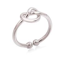 mädchen öffnen sich großhandel-Unendlichkeit Knoten Ring Einfache Knöchel Herz Knoten Offene Ringe Für Frauen Mädchen Hochzeit Engagement Schmuck Geschenk Großhandel