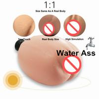 juguete sexual culo inflable al por mayor-Sex Doll Male Masturbactor Inyección de agua tibia de relleno Inflatable Silicone Realistic Pussy Real Body Temperature Big Ass Toy
