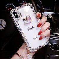 продажа лебедей оптовых-Творческий роскошный модный алмазный лебедь прозрачный чехол для мобильного телефона iphone 7 8 x xr xs max hot sale