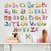Puzzle Early Education Paste 26 Alfabeto Inglês Adesivos de parede para crianças Quartos Cartoon Art bedroom Wall Background Decal