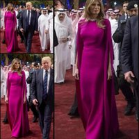 Wholesale sexy navy outfit for sale - Graceful Saudi Arabia Evening Dresses With Respectful Tour Outfits Floor Length Formal Dresses Prom Gowns Melania Trump Same Party Gowns