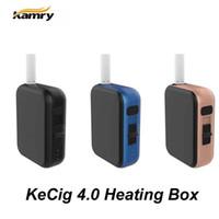 Wholesale Mini Battery Switch - Authentic Kamry Kecig 4.0 Heating Box kit First push style switch with precise temperature control 650mAh Battery Mini Box Shape Kit