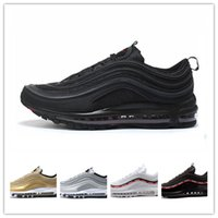 Wholesale Drop Shipping Bullet - Drop Shipping 97 OG Bullet Running Shoes Men Casual Women Air Cushion Sports Shoes Undefeated Sneakers Outdoor Athletic Jogging Shoes 36-46