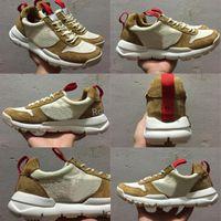 Wholesale vintage skis - Tom Sachs x Craft Mars Yard 2.0 TS NASA Running Shoes Women Men AA2261-100 Natural Sport Red Sneaker Designer Shoe Zapatillas Vintage