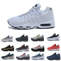 Wholesale most yellow - 2018 95 OG men Running Shoes Authentic Sports Shoes Most complete color matchFor men Top Sneakers walking Tennis Shoes Man Training 40-45