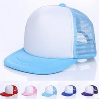 Wholesale advertising caps - Factory Wholesale Children Summer Hat Mesh Cap Topee Hat Advertising Cap Customized Logo Acceptable DHL Free Shipping