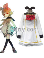 traje de kagamine al por mayor-Vocaloid Kagamine Rin disfraz de Halloween cosplay