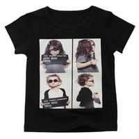 d6b89f60fa5 2018 Summer New Vêtements pour enfants T-shirt coréen Unisexe Baby Print  Avatar Court t-shirt à manches courtes pour enfants Fille Cotton