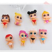 kinder neuheit schiff großhandel-DHL-freies Verschiffen LOL Puppe 8pcs / lot verschiedene Arten MIni LOL vorbildliche Spielwaren-pädagogische Neuheit scherzt das Auspacken der Mädchen-Tätigkeits-Spielzeug-Abbildungen Geschenke