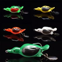 Wholesale new frog lures for sale - Group buy New Pike Fishing Lure Artificial Bait Sinking Duck Lures Soft Baits Fishing Wobblers Frog pesca Multiple Colors hc dd