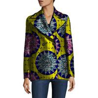 39181db9128e afrikanische kleidungsmuster großhandel-Wholesale-African Frauen Retro  Blazer weibliche Muster gedruckt Anzug Outwear Outfits