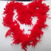 gefiederter schal großhandel-Feder Boas Glam Flapper Mode Hot Flapper Dance Kostüm Zubehör Scarf Wrap Burlesque Saloon Dekor New 5xx Z