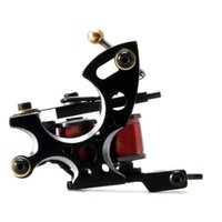 neue spulenmaschine großhandel-Neue professionelle handgemachte Tattoo Maschine 10-Wrap Spulen Eisen Guss Rahmen benutzerdefinierte Inkjet Artefakt Spule