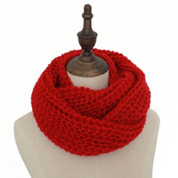Wholesale Cable Knit Scarfs - 2017 Hot Sale Winter Cable Ring Scarf Women Knitting Infinity Scarves Knitted Warm Neck Circle Scarf bufandas cuellos