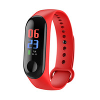 Wholesale Smart Bracelet M3 C Heart Rate Blood Pressure Monitor Pulse Wristband Fitness OLED Tracker Watch For Iphone Xiaomi PK mi band