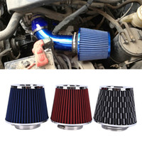 Wholesale Air Breather - Air intake filter Motor Car Cold Air Intake Cone Flow Vent Cover Breather Filter Cleaner carbon