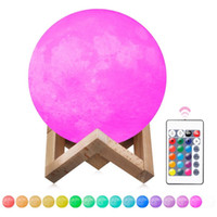 Wholesale magical balls for sale - Magical Moon LED Bulbs D LED Night colors Moonlight Desk Lamp USB Rechargeable D Moonlight Colors Stepless for Christmas lights gifts