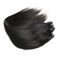 Wholesale Cheap Real Human Hair Weaves - cheap 7a unprocessed brazilian virign hair silk straight 2 bundles 200g lot real brazilian remy human hair extensions weaves natural black