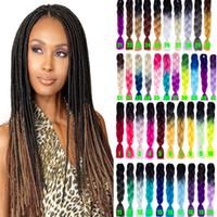 Wholesale gray hair braiding resale online - Ombre Xpressions Kanekalon Braiding Hair g Ombre Gray Synthetic Expression Braiding Hair Extensions Box Braids