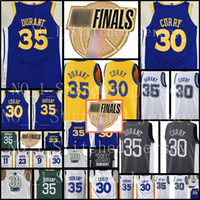 Wholesale quick state - 30 Stephen Curry Kevin Durant Golden State Warriors Jersey Men s Finals Bound Break Blue White Black Basketball Jerseys