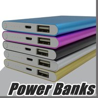 Wholesale ultra mobile phones - Ultra thin slim powerbank mAh Ultrathin power bank for mobile phone Tablet PC External battery F YD