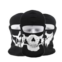 Wholesale skull full face ski mask for sale - Tactical hood outdoor cycling Face masks ghost Skull head Mask Motorcycle Skiing Cycling Full Hood Halloween party cosplay costumes mask