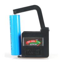 Wholesale universal battery tester 1.5v 9v - New Universal Button Cell Battery Volt Tester Checker AA AAA C D 18650 9V 1.5V