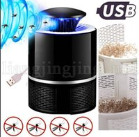 Wholesale mosquito insect control - USB Photocatalyst Mosquito Killer Lamp Pest Control Electric Anti Trap Lamp Mosquito Trap Repeller Bug Insect Repellent KKA5338