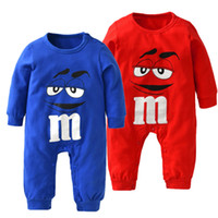 Wholesale New Newborn Unisex Set Clothes - New 2017 Autumn Baby Boy Girl Clothes Newborn 100%Cotton Blue and Red Long sleeve Cartoon Printing Jumpsuit Infant Clothing Sets