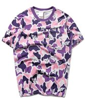 Wholesale Fashion Finger Sleeve - Designer Ripndip Cotton Women T Shirts Printed Tops Tees Casual skateboard Middle Finger Cat Camo Short-sleeve Brand Hip Hop Clothes