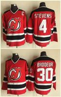 новый джерси скотт стивенс оптовых-New Jersey Devils # 30 Martin Brodeur Jersey 4 Скотт Стивенс Рэд 100% сшитые классические хоккейные майки CCM