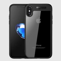 Wholesale Bumper Shipping - Ultimate Hybrid Case For iPhone X iPhone 7 8 Plus 6 6S Colorful Soft TPU bumper & Crystal Clear Acrylic Back Skin Phone Cover Free Shipping