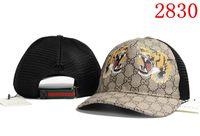 ingrosso cappelli di snapback animale-2018 Top Quality Brand Cappello Cap animale ricamo Cotone Berretto da baseball Bone hip hop Snapback Cappellino mostro