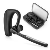 micrófono de auriculares superior al por mayor-Top Bluetooth Headset Auriculares inalámbricos Auriculares con micrófono 9 Hrs Tiempo de conversación Manos libres para conducir para iPhone y teléfono Android