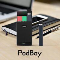 ingrosso scatole bancarie-DHL libera la nave buon prezzo Podbay Box Caricatore della banca di potere 1500mah misura per la batteria di Juul Juul starter kit Ecigs
