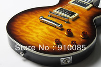 Wholesale guitars china sunburst resale online - 2013 Hot New Arrival Sales Promotion China Guitar Factory Traditional Exclusive Electric Guitar Washed Tea Sunburst