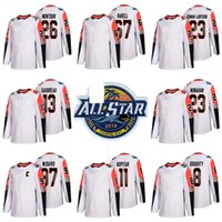 Wholesale division hockey for sale - Group buy Mens Pacific Division Montour Rakell Larsson Gaudreau Monahan Kopitar Doughty White All Star Game Hockey Jerseys