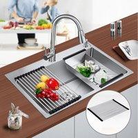 cuisine de choix achat en gros de-304 en acier inoxydable cuisine drain eau rouleau évier de cuisine accessoires réglable forme ronde drain deau barre 2 taille choix