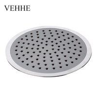 Wholesale Dual Rain Shower - VEHHE 8 inch grey round bathroom fixture big rain shower wall mounted shower waterfall ceiling rain nozzle VE030