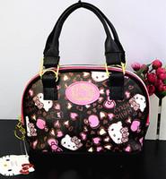 bonjour sacs à main achat en gros de-Nouvelles femmes fille Bonjour kitty sac Messenger sac sac à bandoulière Sacs à main yey-6603-2 Y18102504