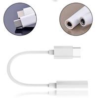 adaptador fêmea usb de 3,5 mm venda por atacado-Novo USB 3.1 Tipo-C para 3.5mm Fones De Ouvido Adaptador de Cabo Tipo C USB-C Macho para Fêmea Jack USB 3.1 Adaptador de Cabo De Áudio para Tipo-C Smartphone DHL