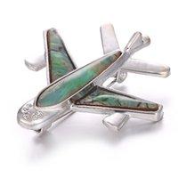 broches de avião venda por atacado-Alloy Airplane Broche Pinos Broches de Avião Para As Mulheres Homens Trajes Aeronave Broche