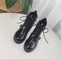 Wholesale Winter Female Boots - Martin female British style Korean students new autumn and winter 2018 women's boots wild cotton two single female boots