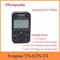 yn flash al por mayor-Comercio al por mayor YN-622N-TX YN622N-TX YN 622N TX i-TTL LCD controlador inalámbrico flash inalámbrico flash disparador transceptor para Nikon DSLR