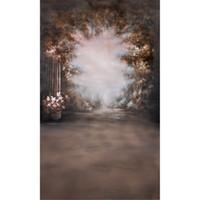 tela para pintar árboles al por mayor-Pintura al óleo Estilo Flores Telones de fondo para la boda Misteriosos árboles del bosque Niños Foto Estudio Retrato Fondos Tela de vinilo