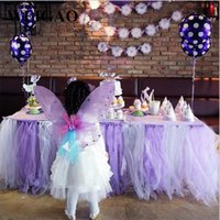 vestido de novia de encaje diy al por mayor-6 colores Tulle Wedding Decoration 100yard Tulle Roll Mariage Tulle Lace Fabric Fiesta de cumpleaños Suministros Diy Girl Tutu Dress Pompoms