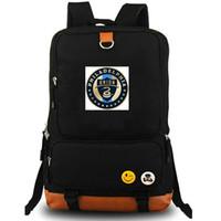 Wholesale team soccer bags for sale - Philadelphia rucksack Union daypack MLS player football club schoolbag Soccer packsack Team backpack Laptop school bag Outdoor day pack